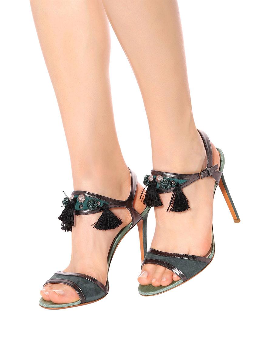 Etro Sandals Embellished Vergle Suede · zVMUpS