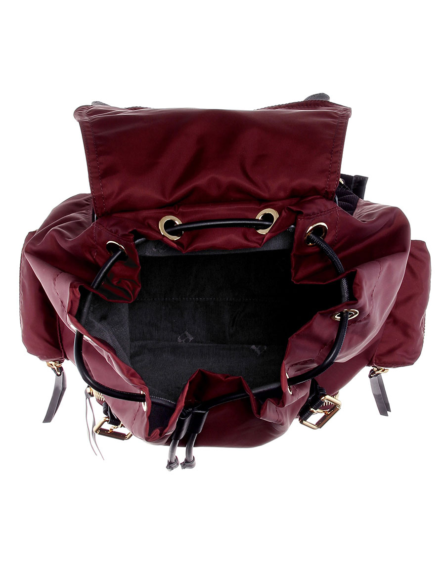 BURBERRY The Large leather trimmed backpack
