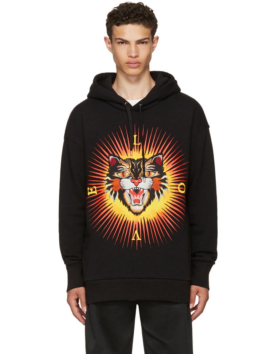 3bd99258 GUCCI Black Angry Cat 'Modern Future' Hoodie · VERGLE