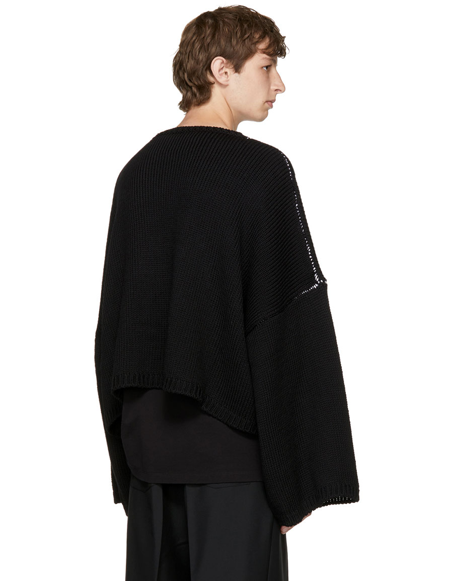 Raf Simons Black Oversize I Love Ny Sweater Vergle