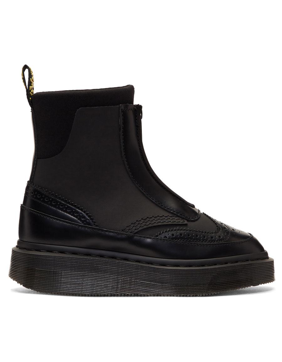 DR. MARTENS Black Jemison Zip Boots