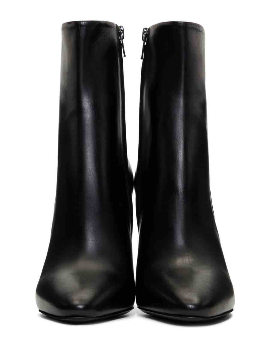 MAISON MARGIELA Black Cut Heel Boots