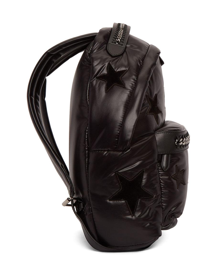 04c24346e8 STELLA MCCARTNEY Black Stars Falabella Go Backpack · VERGLE