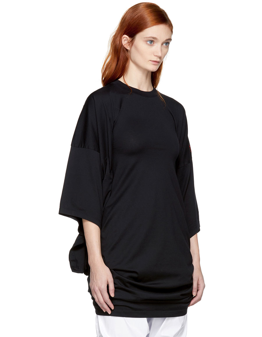 Y/PROJECT Black Fold Over T Shirt