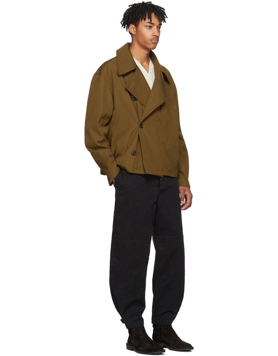 LEMAIRE Black Denim Trench Trousers