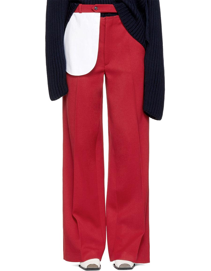 JOSEPH Red Alta Trousers