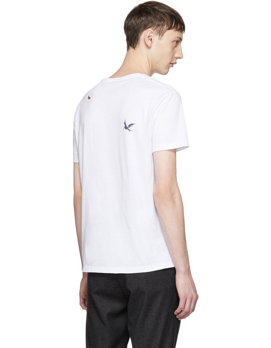 ALEXANDER MCQUEEN White 'Tree of Life' Skull Shirt