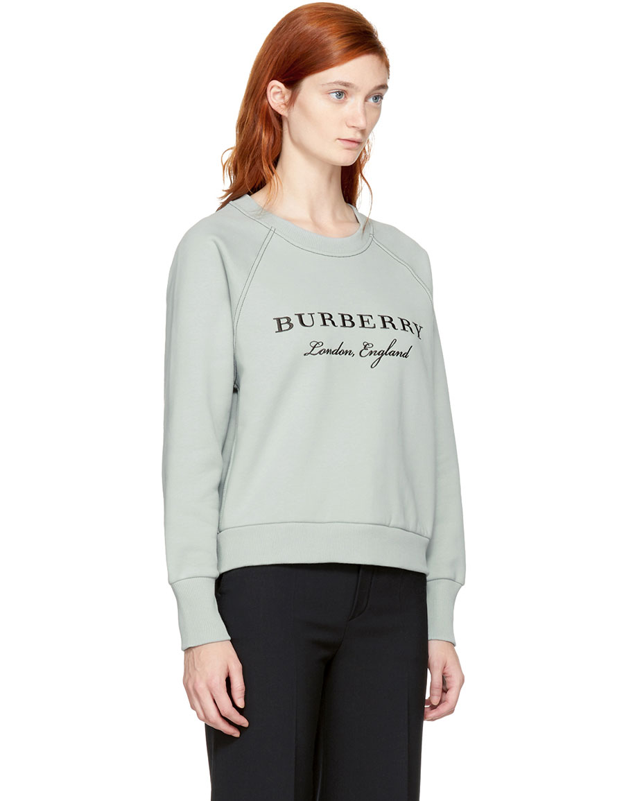BURBERRY Blue Torto Logo Sweatshirt
