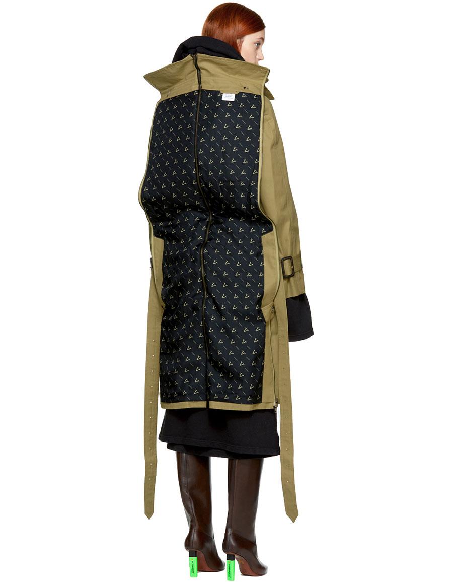 VETEMENTS Beige Mackintosh Edition Parisienne Shrunk Oversized Trench Coat