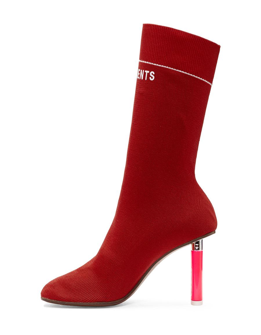 VETEMENTS Red Lighter Sock Boots