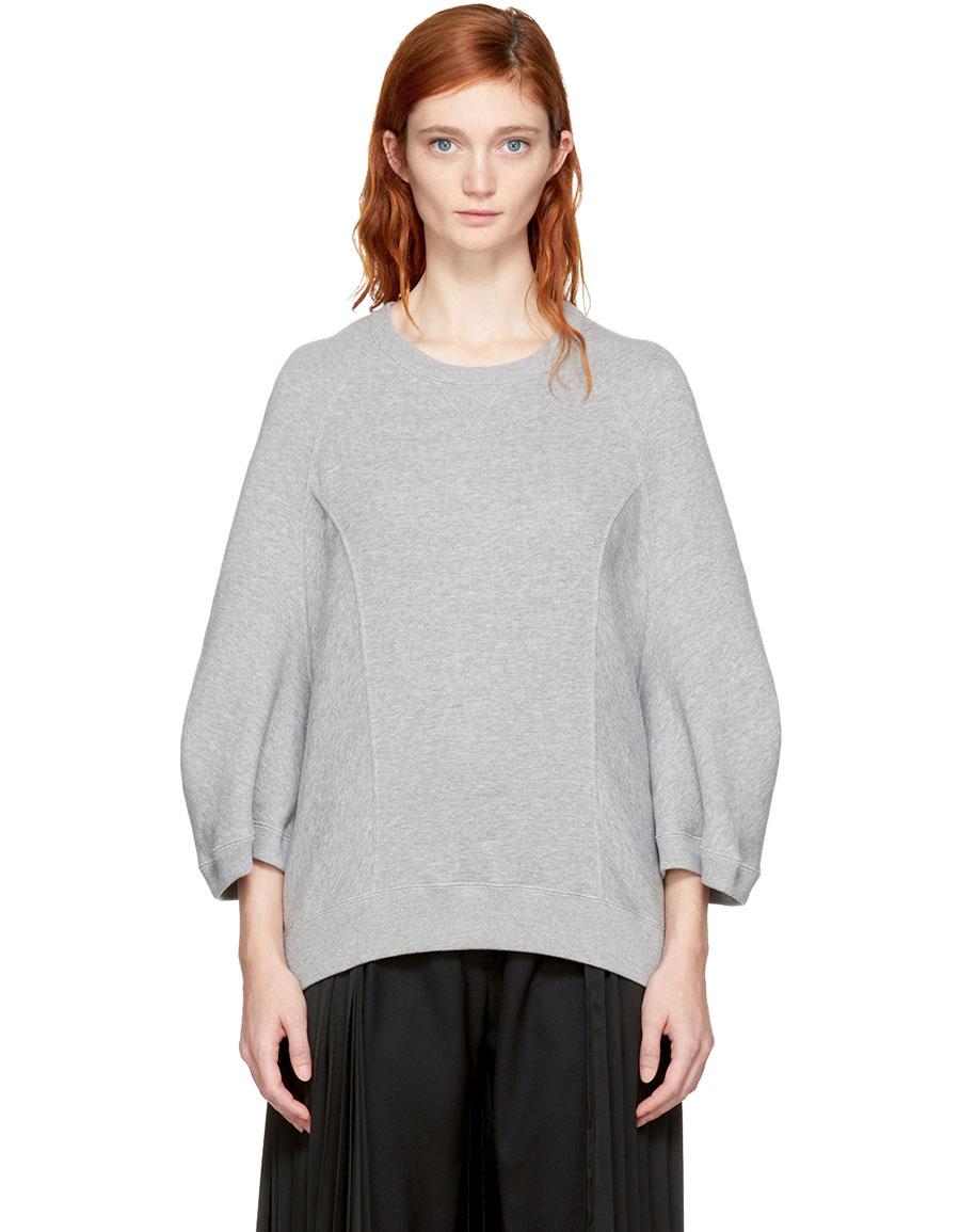 JUNYA WATANABE Grey Cropped Sweatshirt