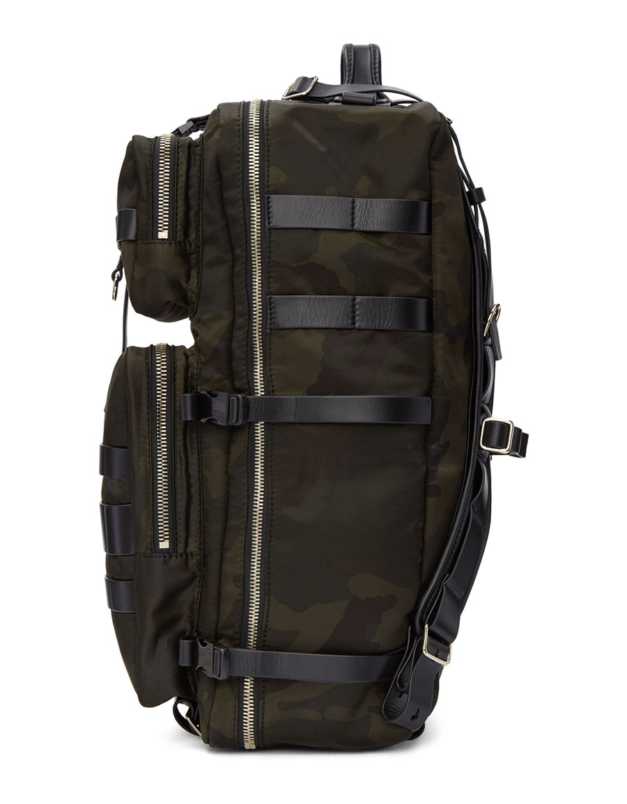 BALMAIN Khaki Camo Nomade Backpack