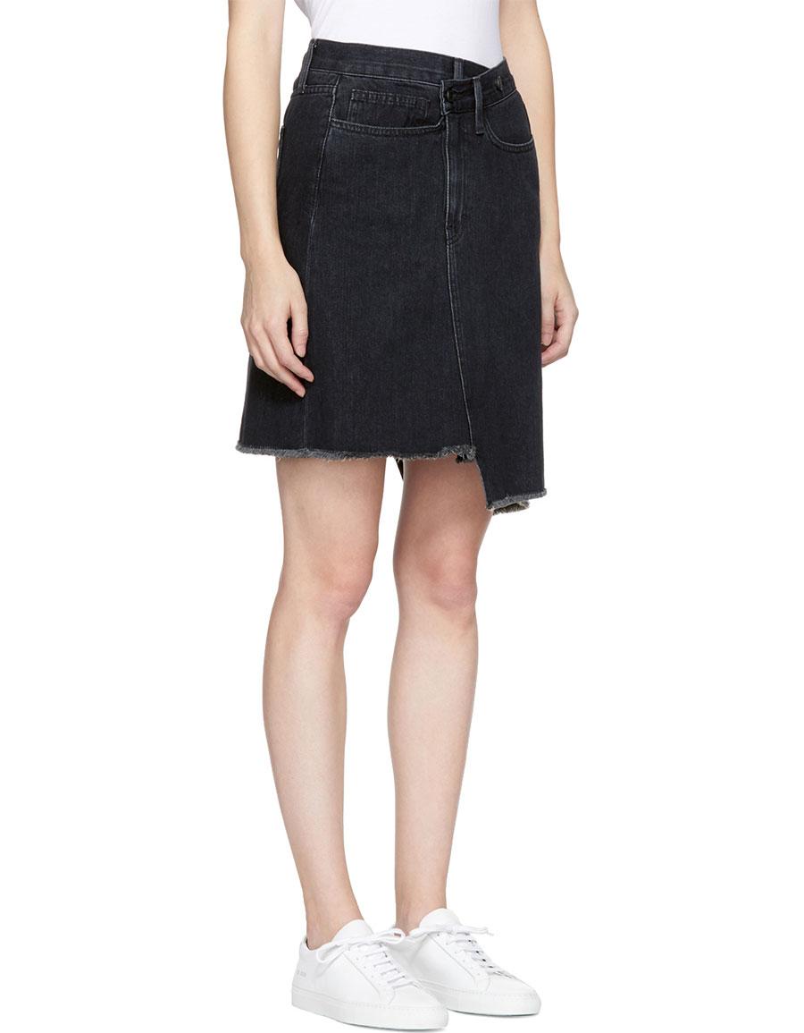EARNEST SEWN Black Denim Tammy Miniskirt