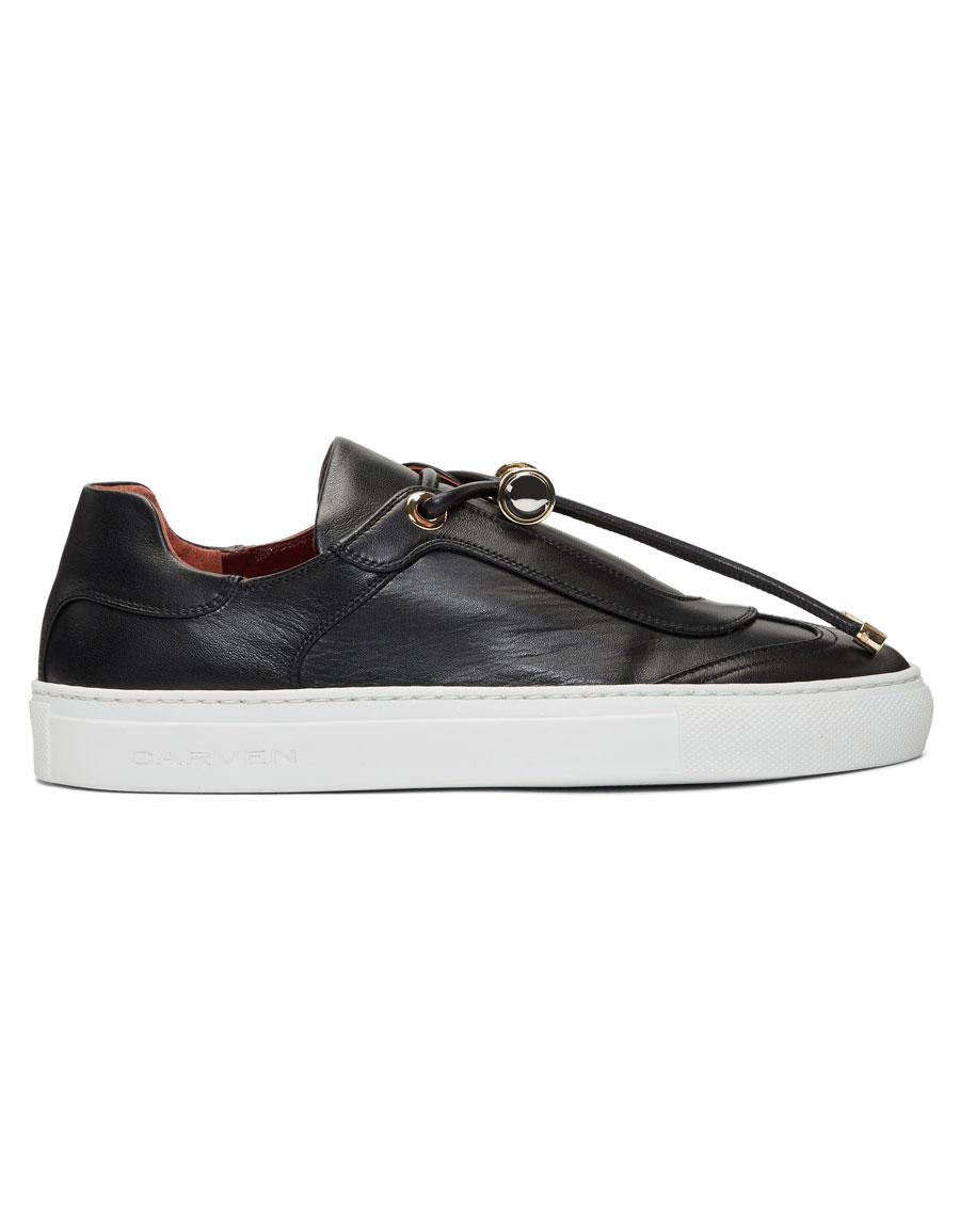 CARVEN Black Leather Mabillon Sneakers