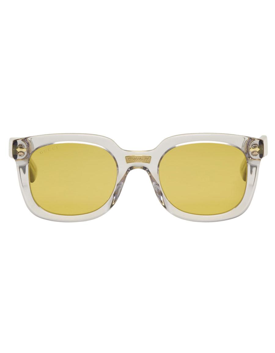 GUCCI Grey Opulent Luxury Square Sunglasses
