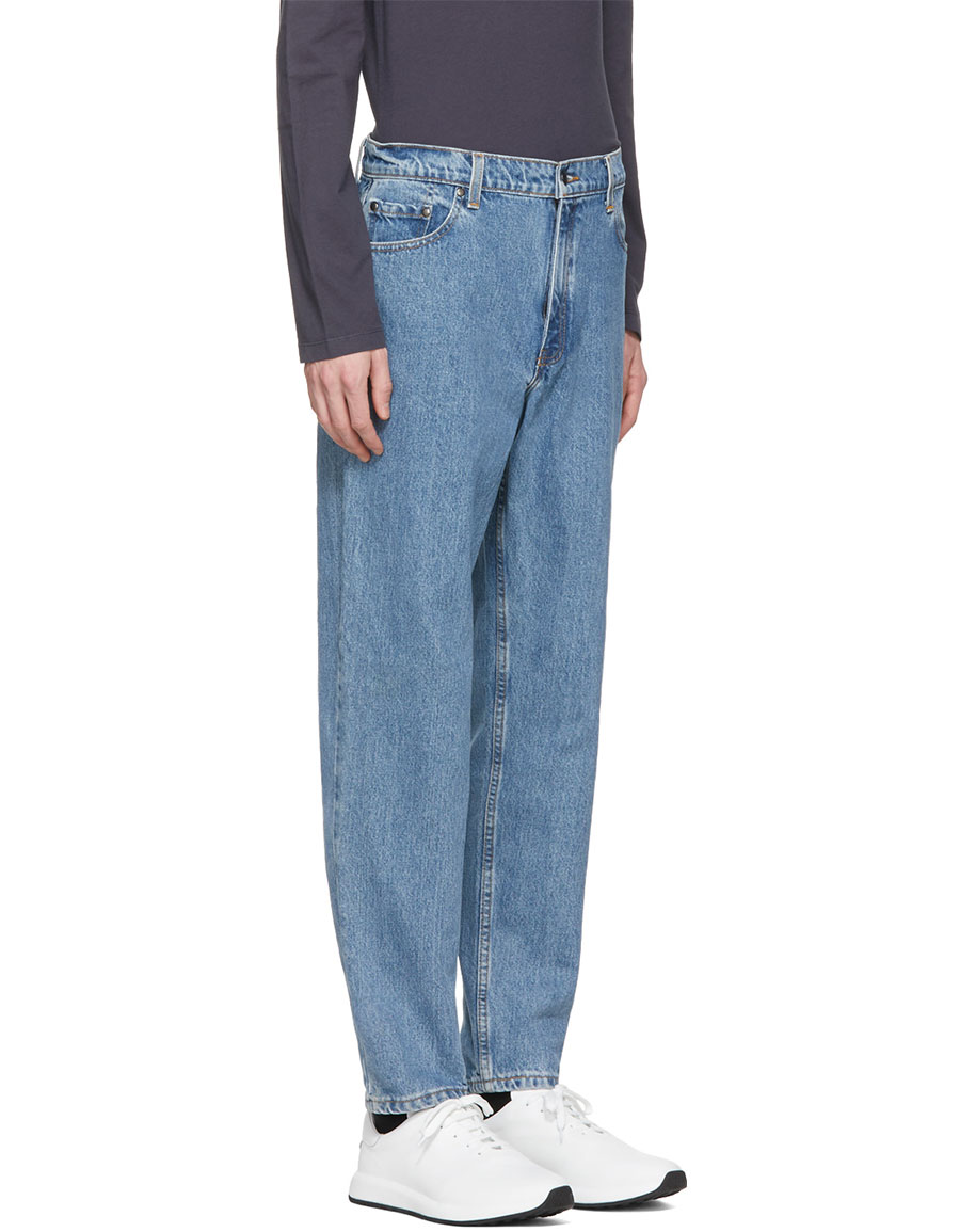 PYER MOSS Blue Vintage High Waisted Straight Jeans