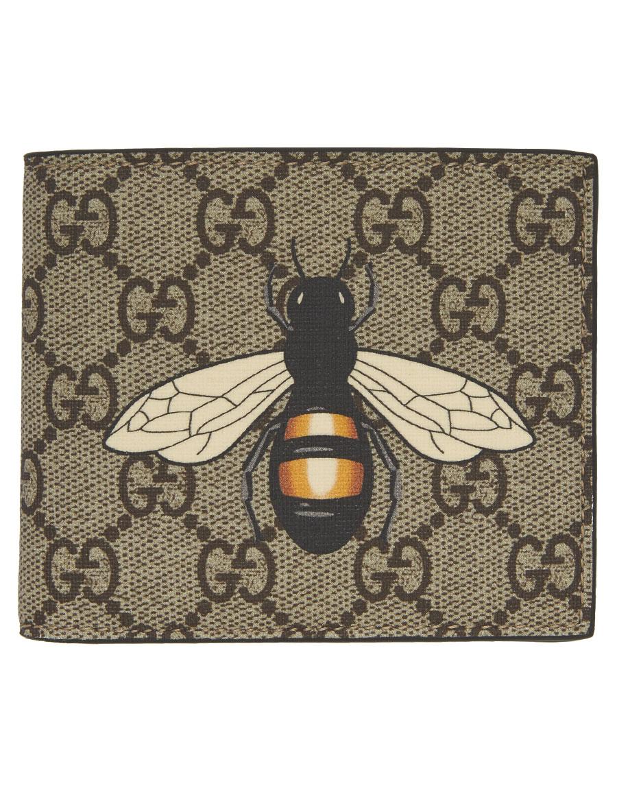 c779dd79560 GUCCI Beige GG Supreme Bee Wallet · VERGLE