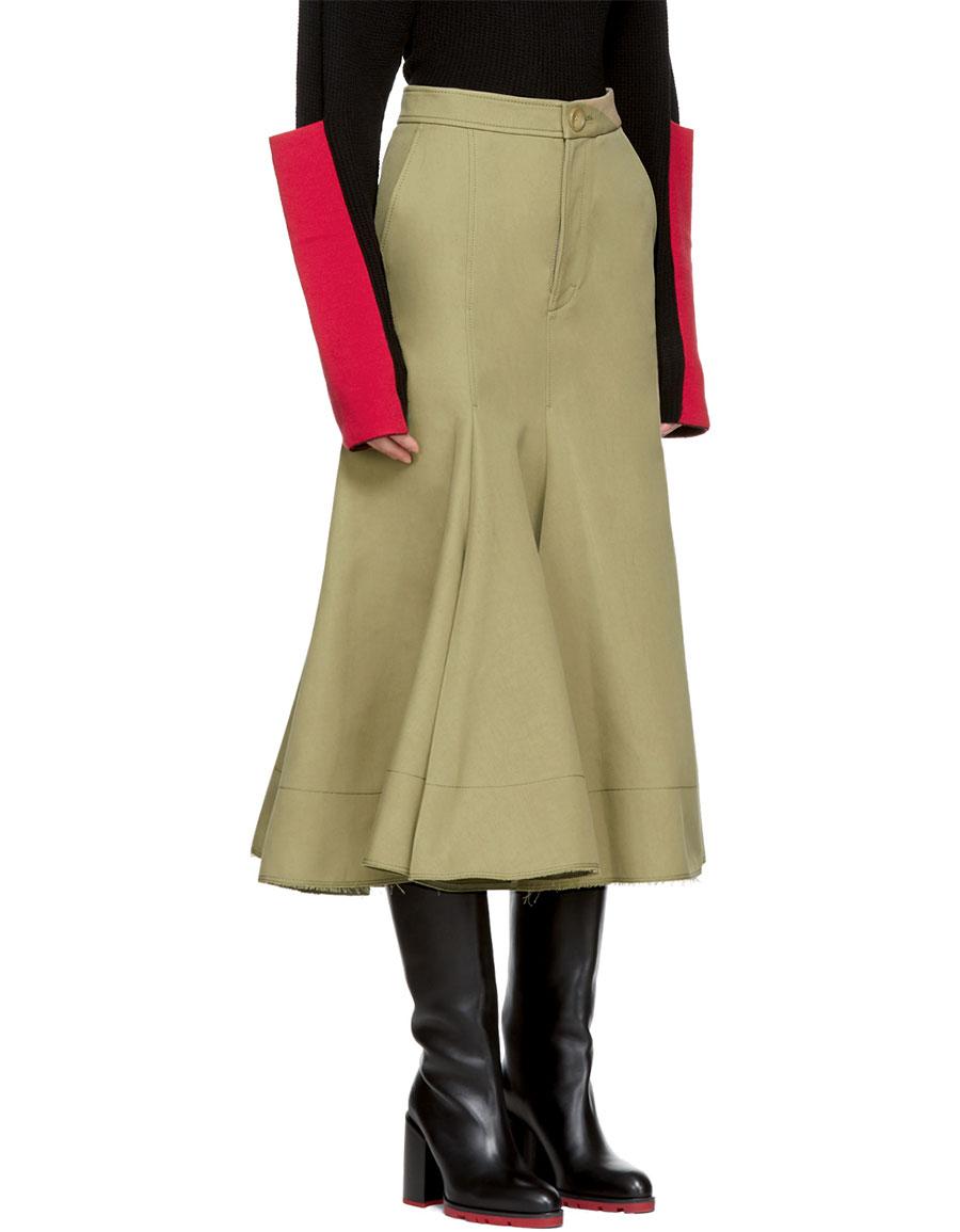JOSEPH Beige Laurel Skirt