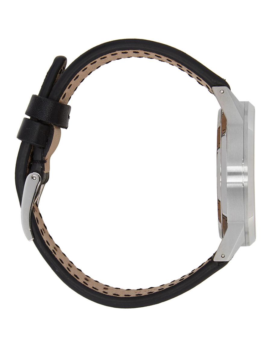 UNIFORM WARES Silver & Black Leather C39 Chronograph Watch