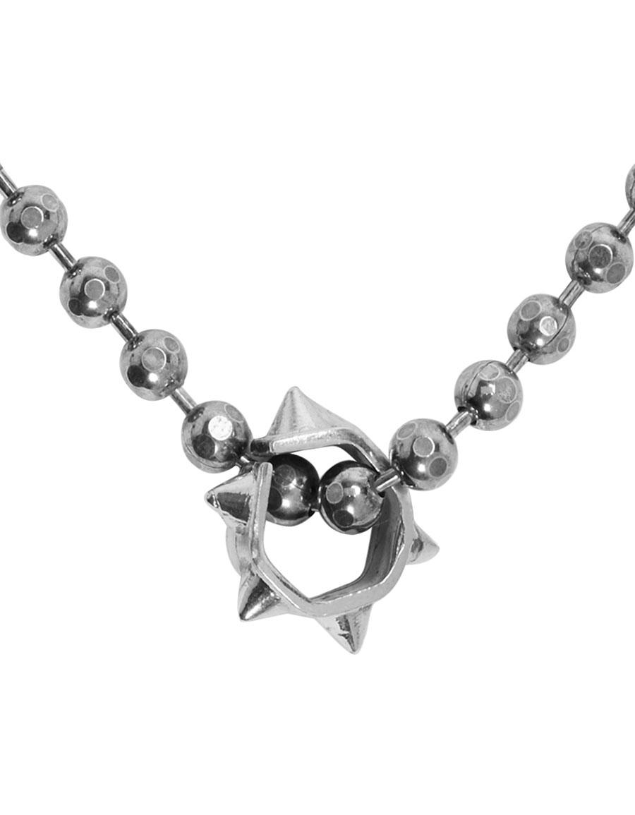 EMANUELE BICOCCHI Silver Disco Chain Charm Necklace