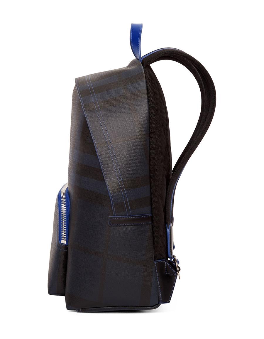 4a8a519b786e BURBERRY Navy   Blue London Check Backpack · VERGLE