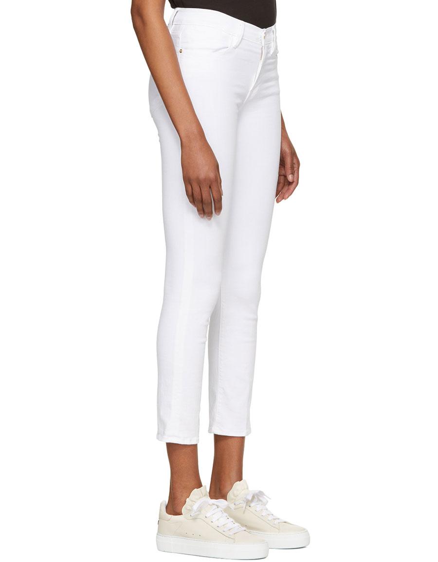 FRAME DENIM White \'Le High Straight\' Jeans · VERGLE