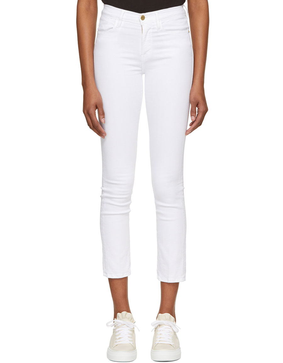 FRAME DENIM White \'Le High Straight\' Jeans · VERGLE