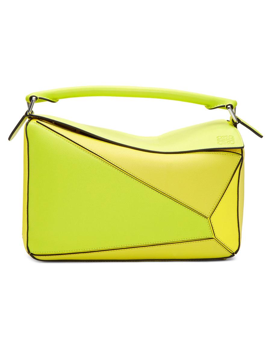 LOEWE Yellow Medium Puzzle Bag