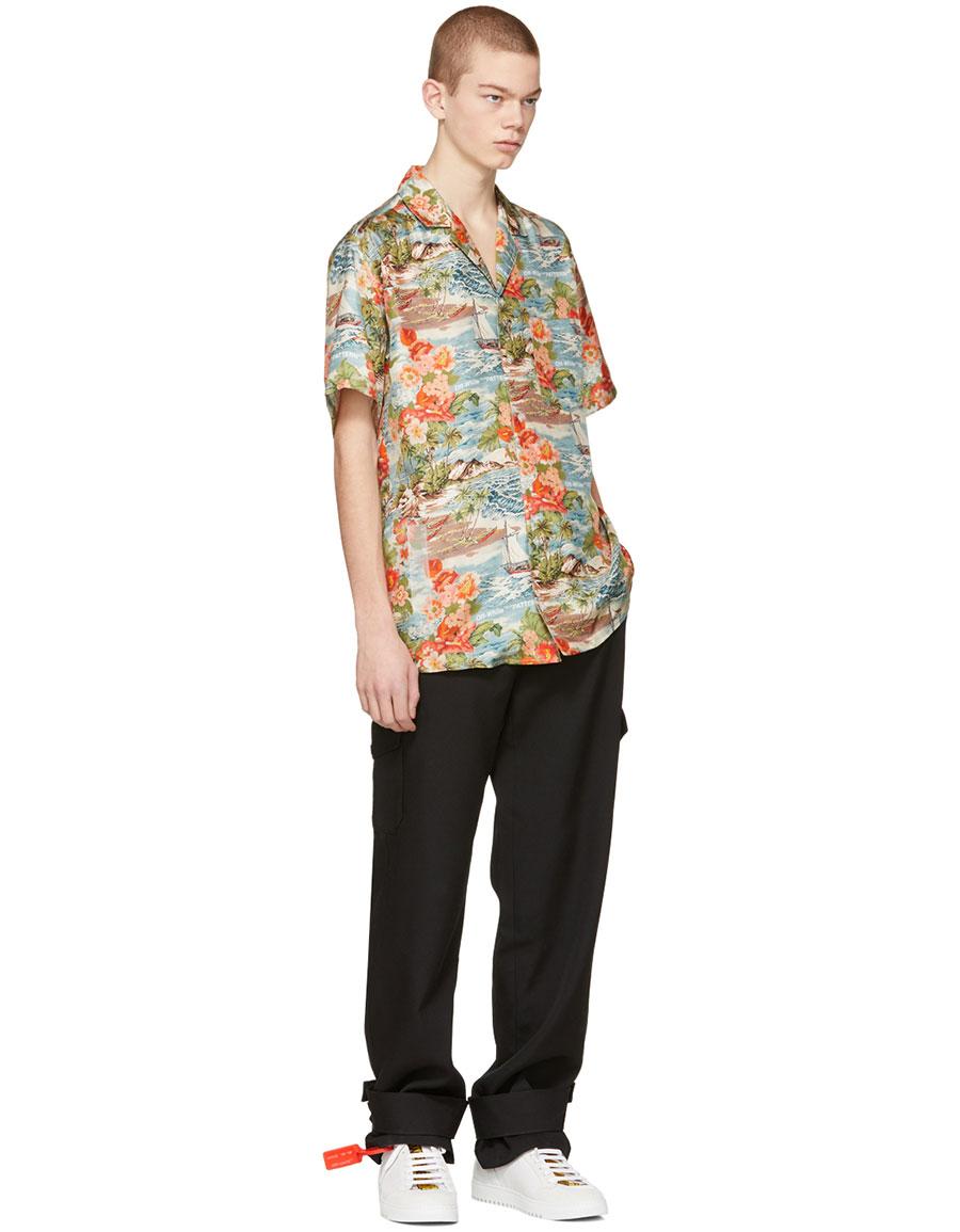 2b132cce OFF-WHITE Multicolor Silk Hawaiian Shirt · VERGLE