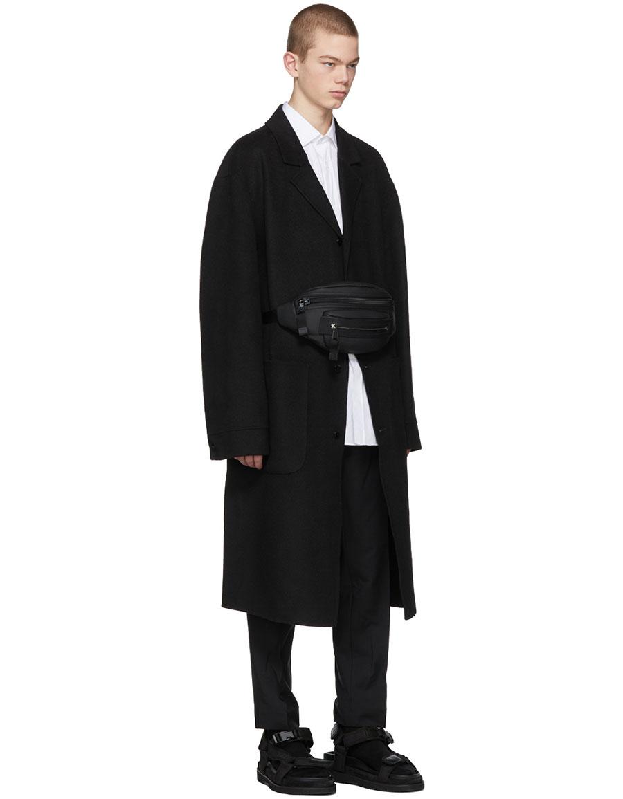 ALEXANDER WANG Black 'Classic Black' Splittable Wool Coat