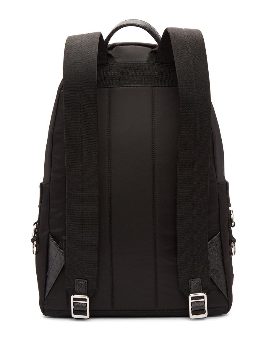 DOLCE & GABBANA Black Designer Heads Backpack