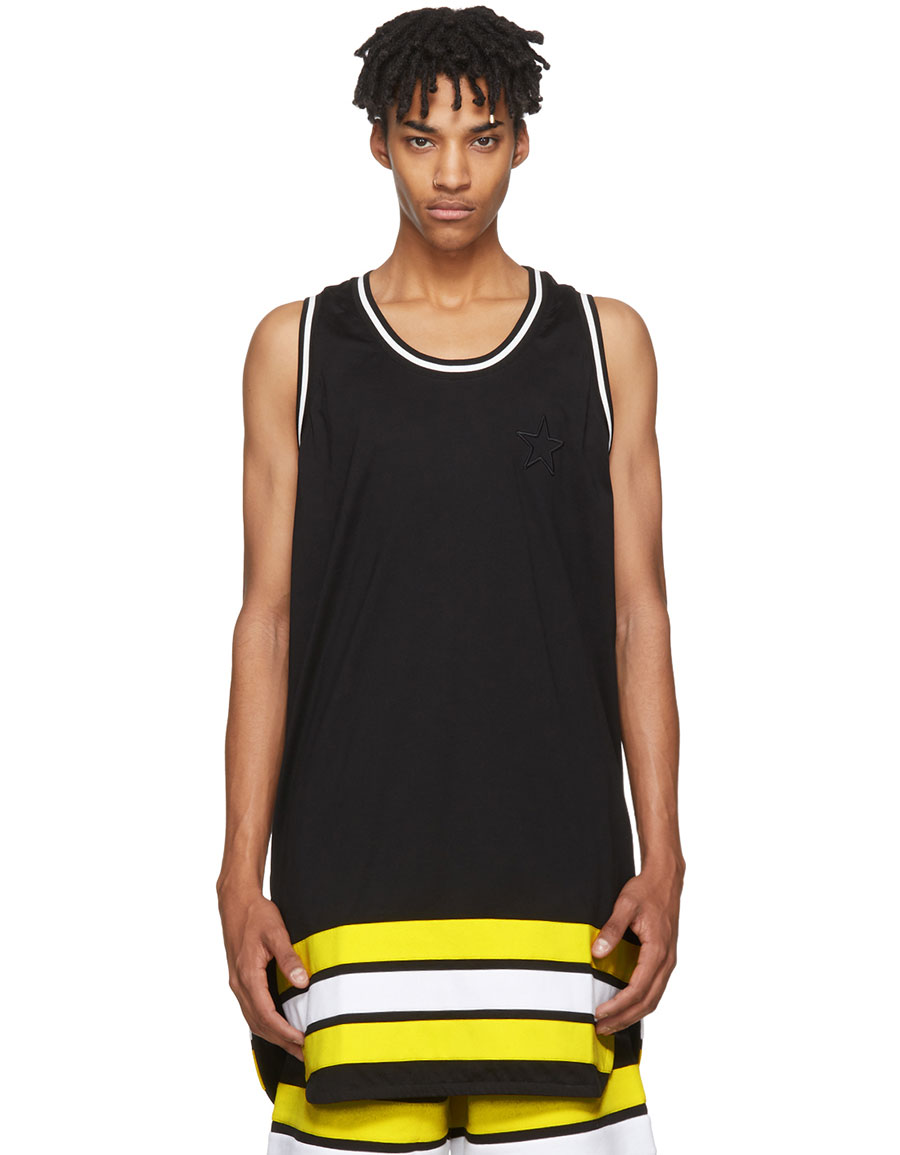 7bba88979581f GIVENCHY Black Oversized Striped Tank Top · VERGLE