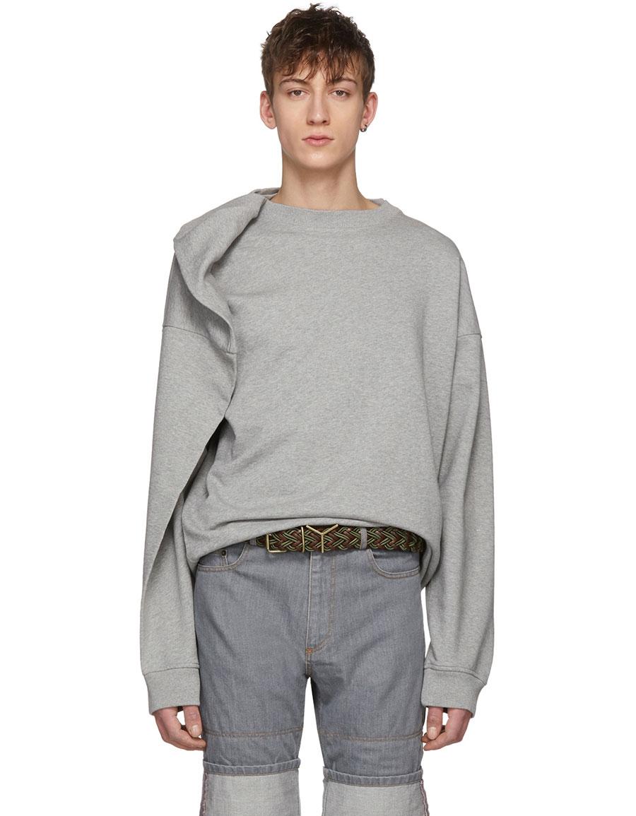 Y/PROJECT Grey Oversized Sweatshirt