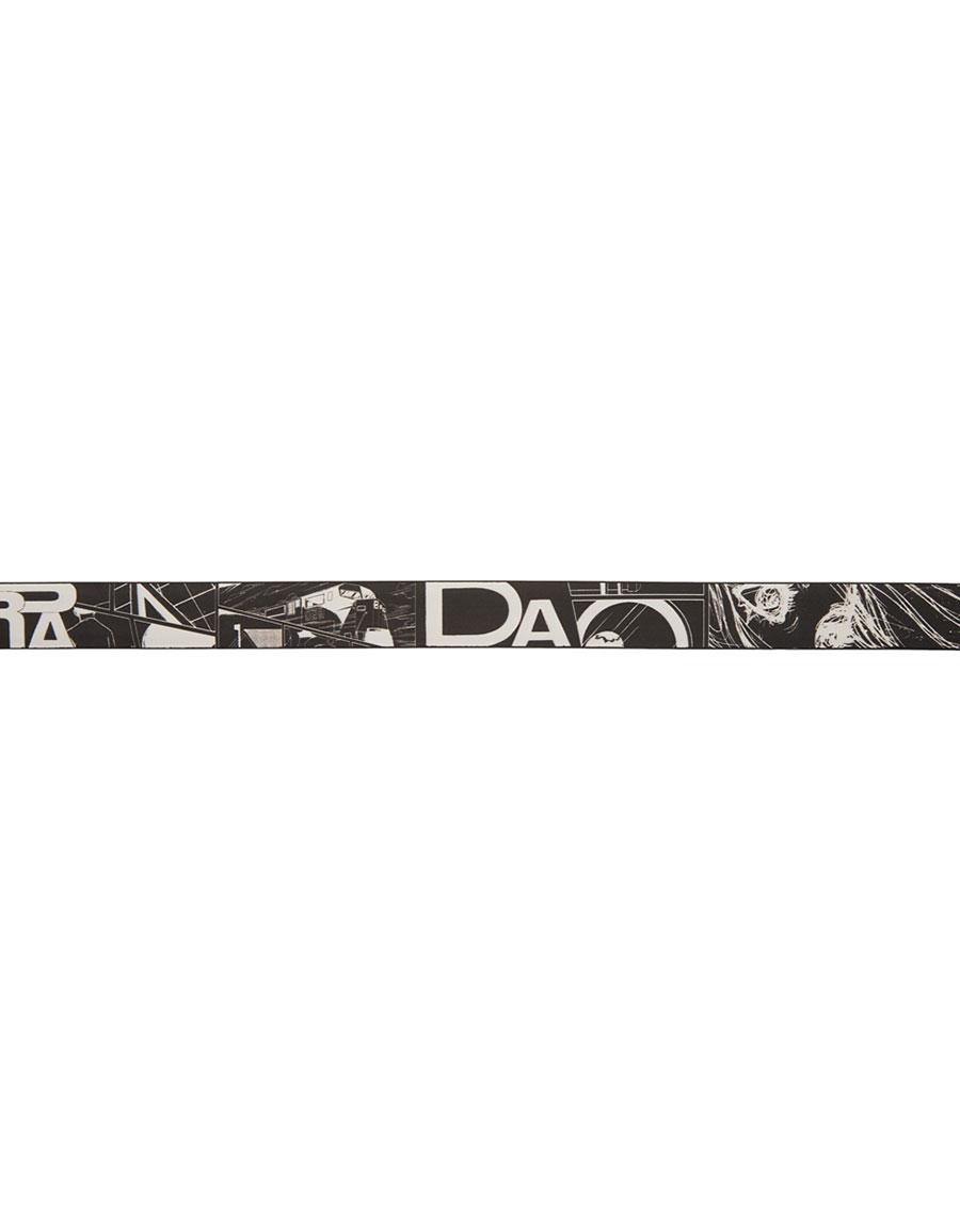 PRADA Black Graphic Belt