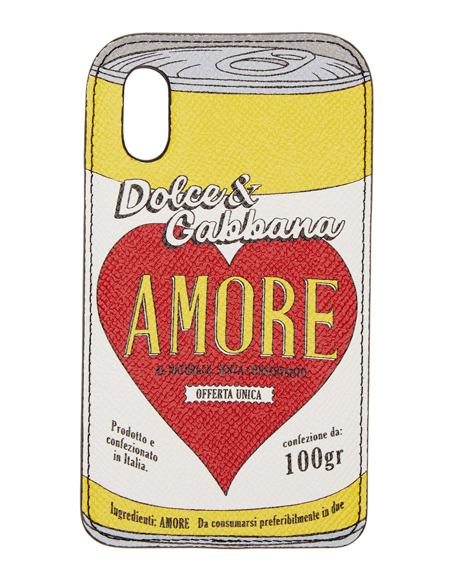 DOLCE & GABBANA Black Amore Energy iPhone X Case