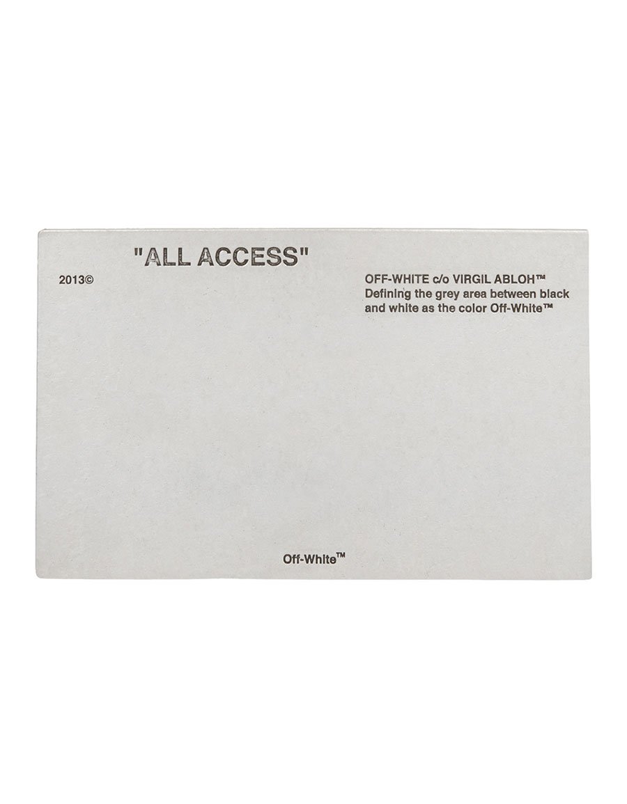 OFF WHITE Silver 'All Access' Brooch