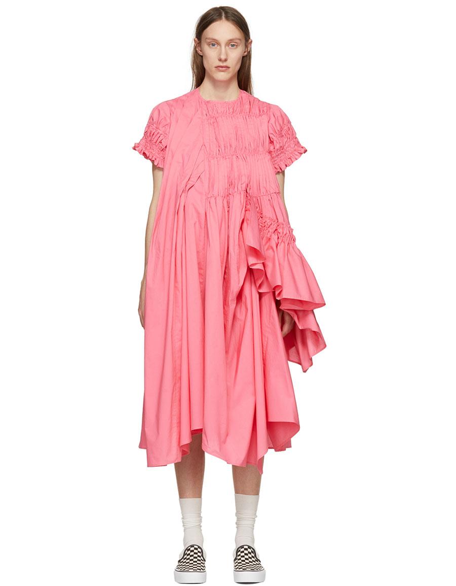 CHIKA KISADA Pink Mid Length Ruffle Dress