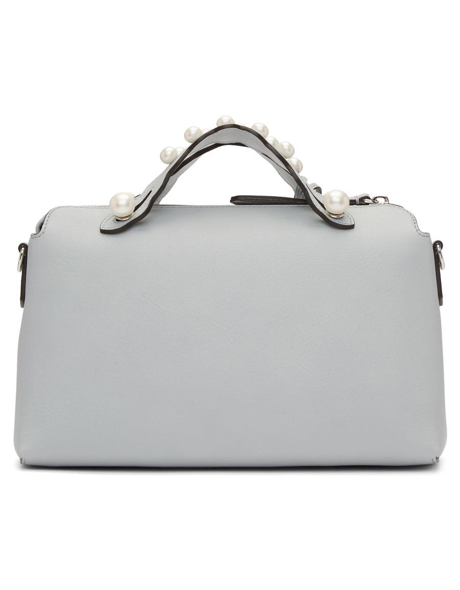 FENDI Grey Medium Pearl 'By The Way' Bag