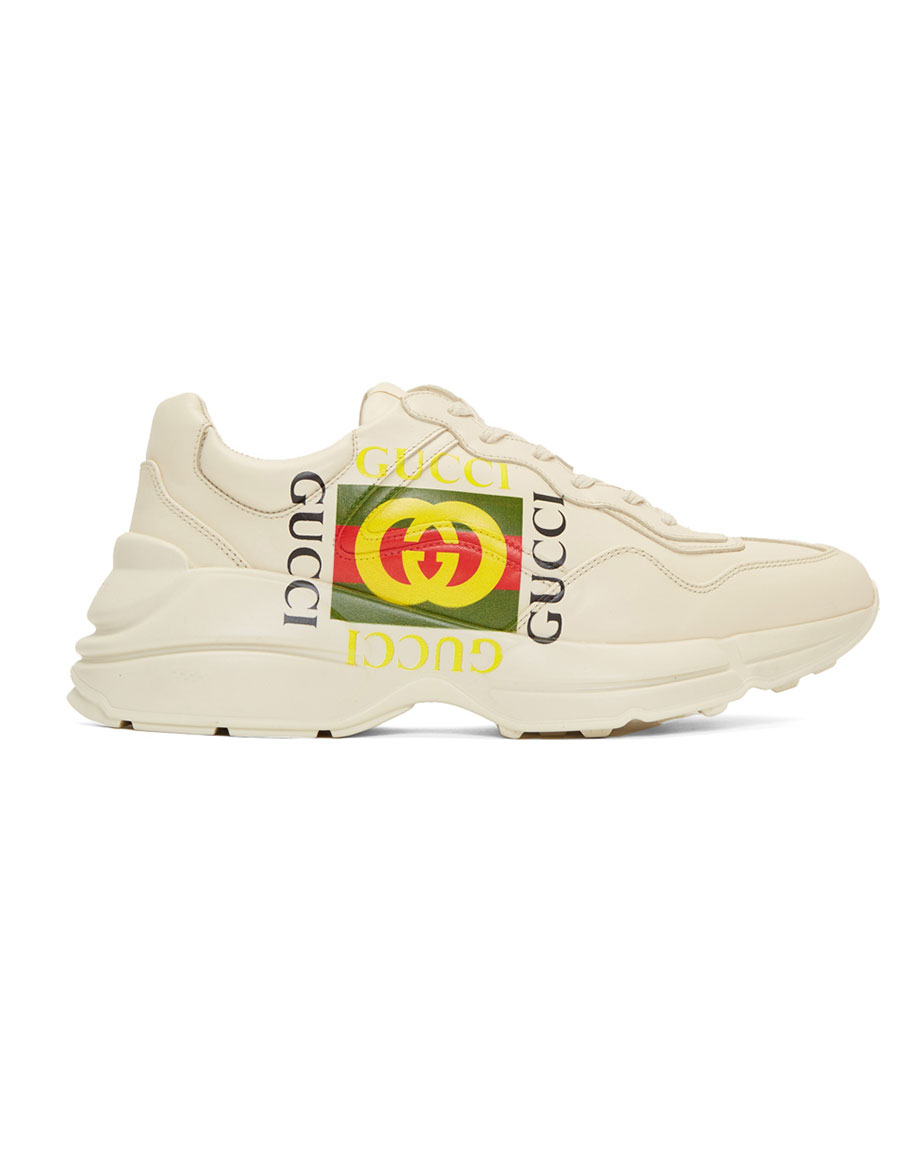 GUCCI Off White 'Gucci Cube' Rhyton Sneakers