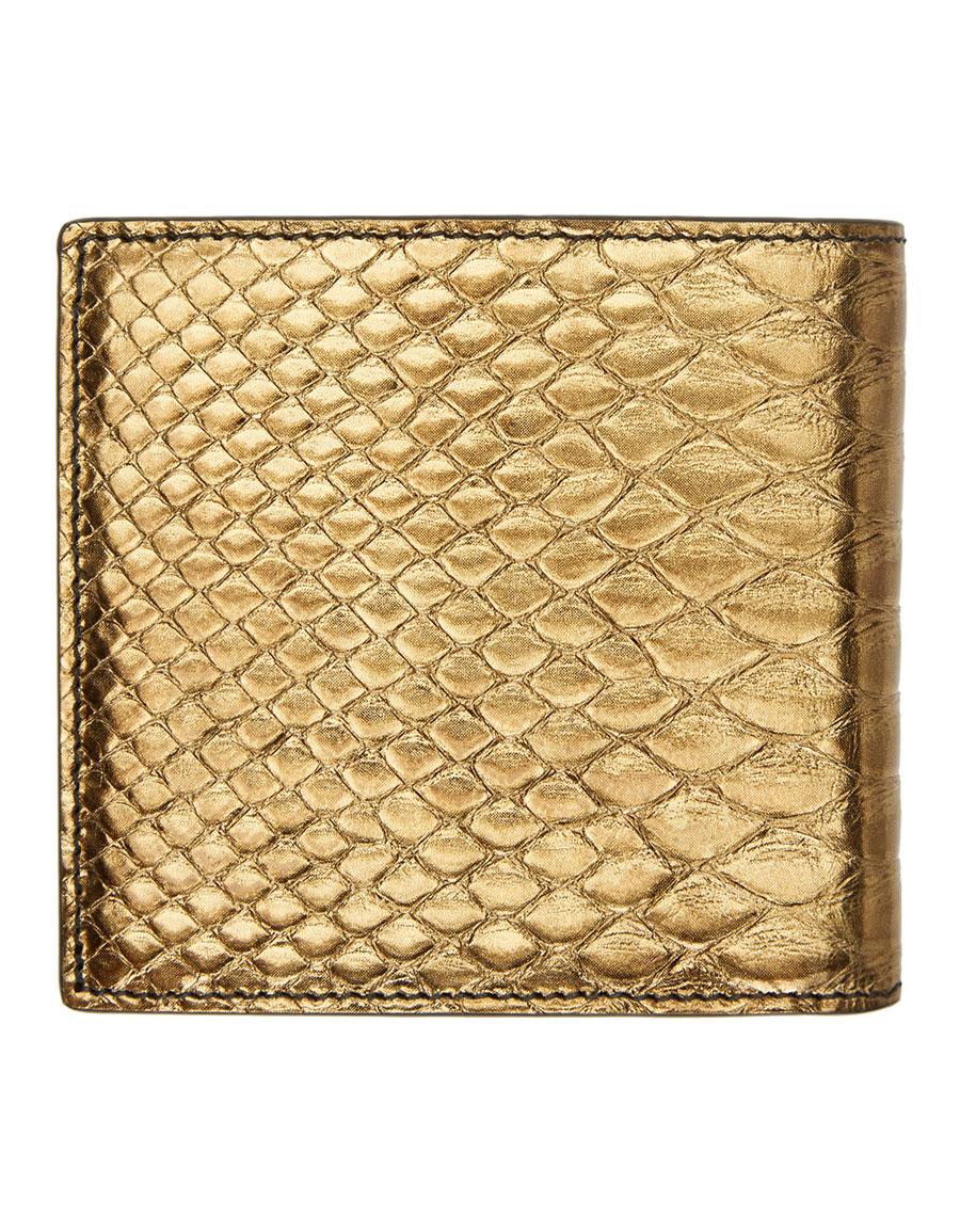 ALEXANDER MCQUEEN Bronze Python Wallet