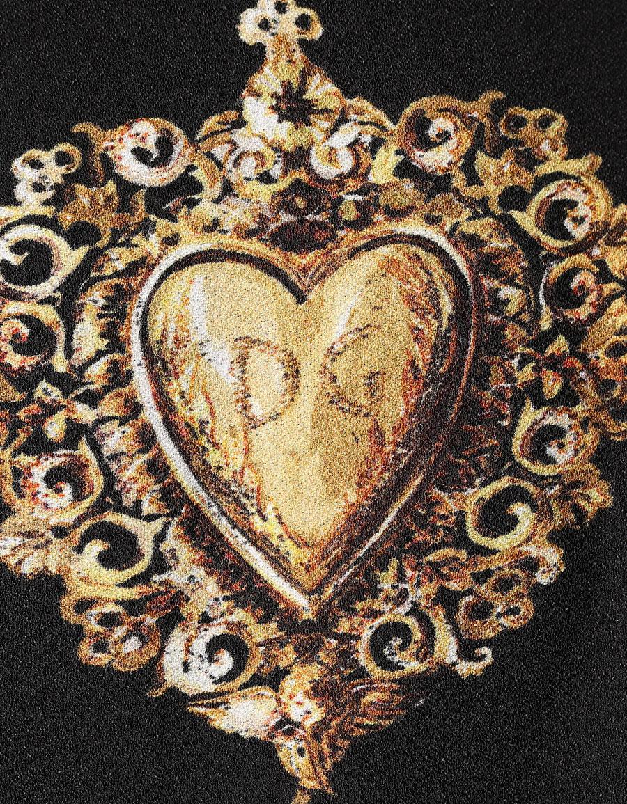 DOLCE & GABBANA Sacred heart print pencil dress