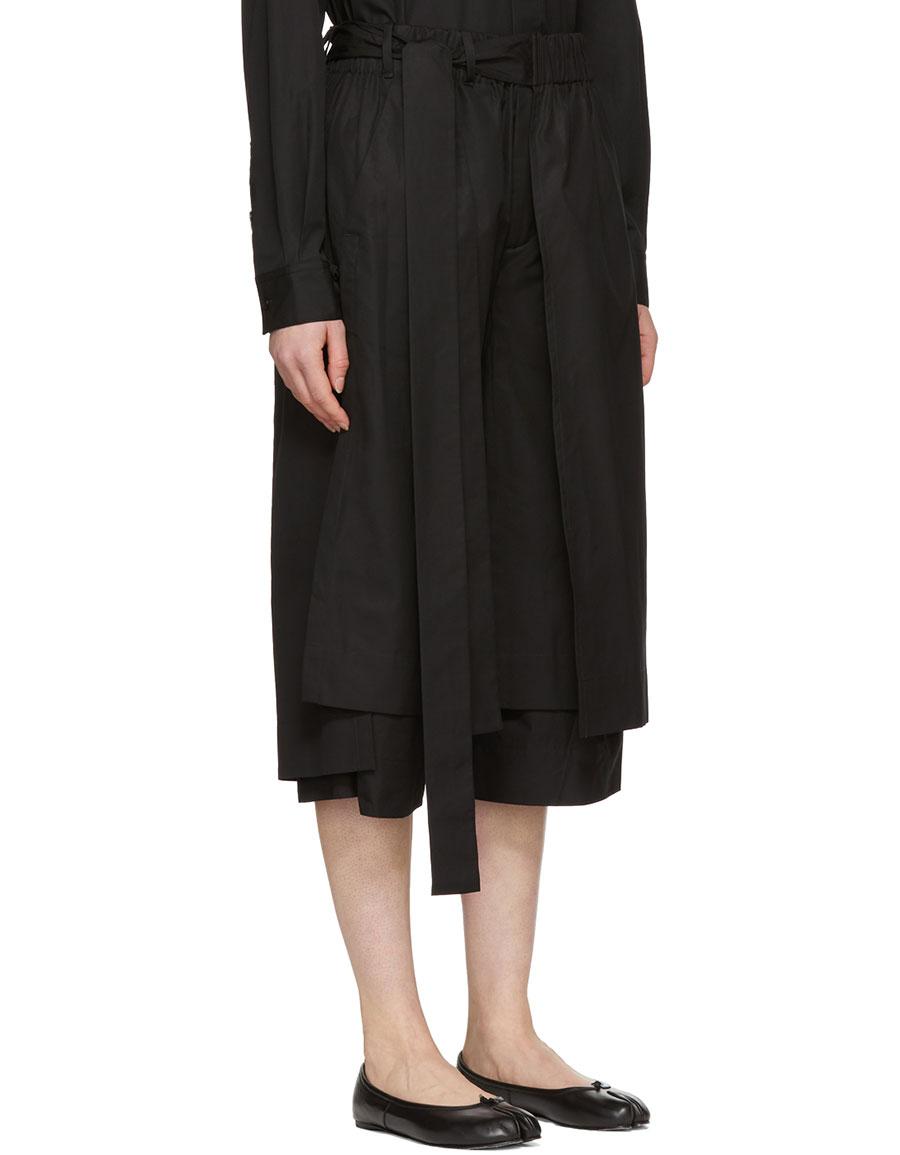 CRAIG GREEN Black Layered Track Shorts