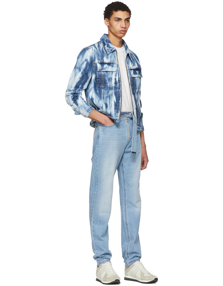 HELMUT LANG Blue Shayne Oliver Belt 97 Jeans