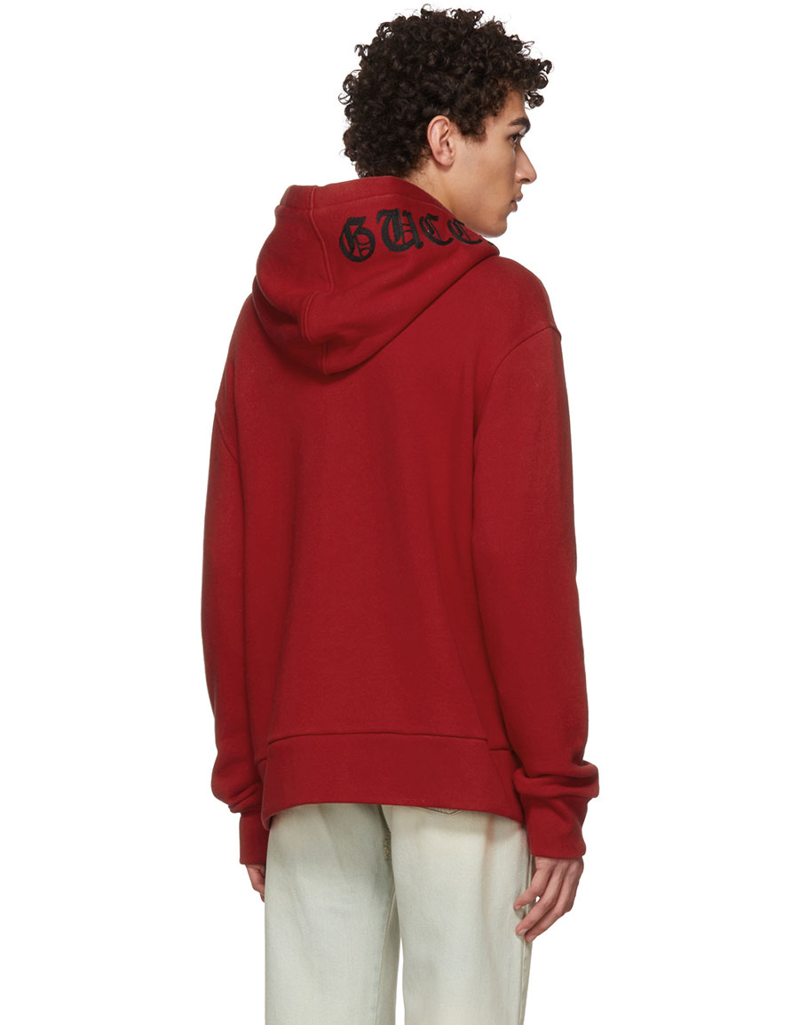 7b5a4716e65 GUCCI Red Jumping Wolf Hoodie · VERGLE
