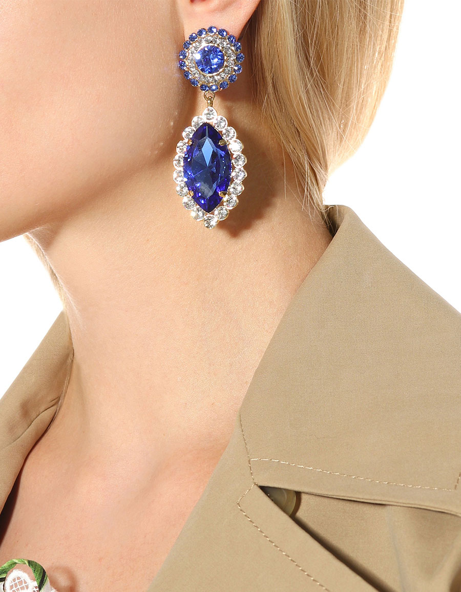 DOLCE & GABBANA Crystal embellished clip on earrings