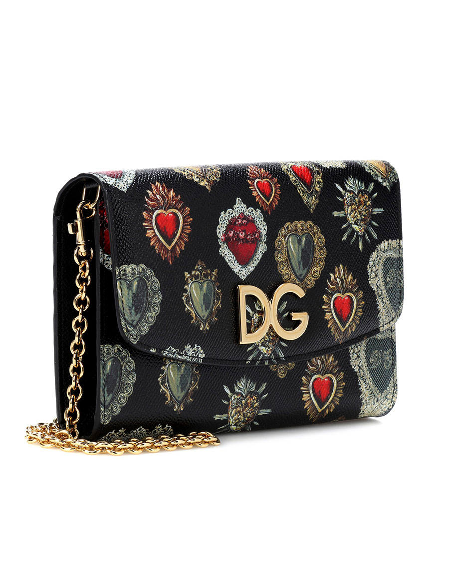 DOLCE & GABBANA Sacred heart leather shoulder bag