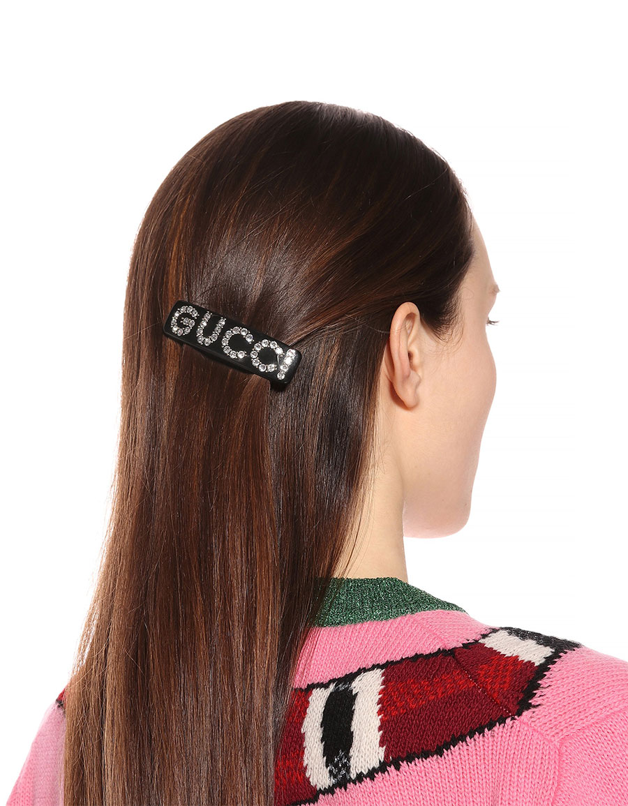 GUCCI Crystal embellished hair clip