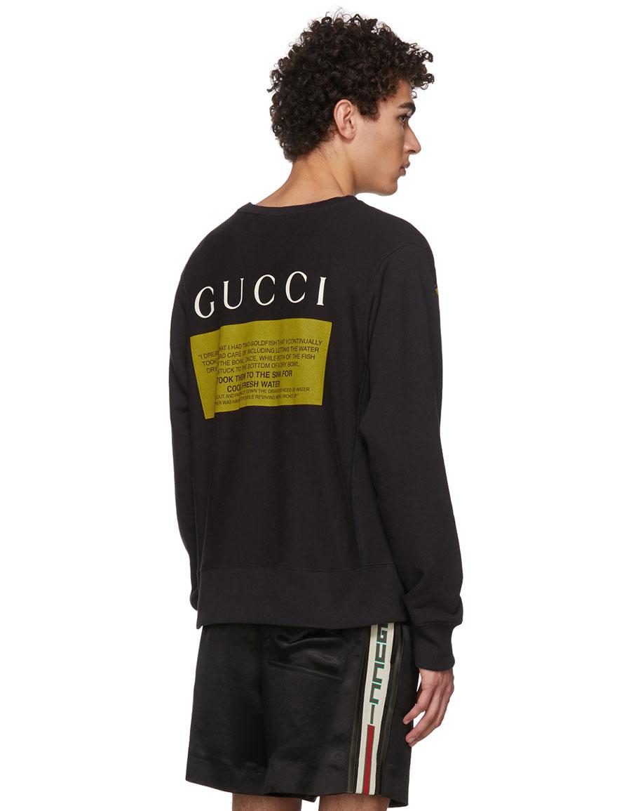 GUCCI Black Cat Sweatshirt