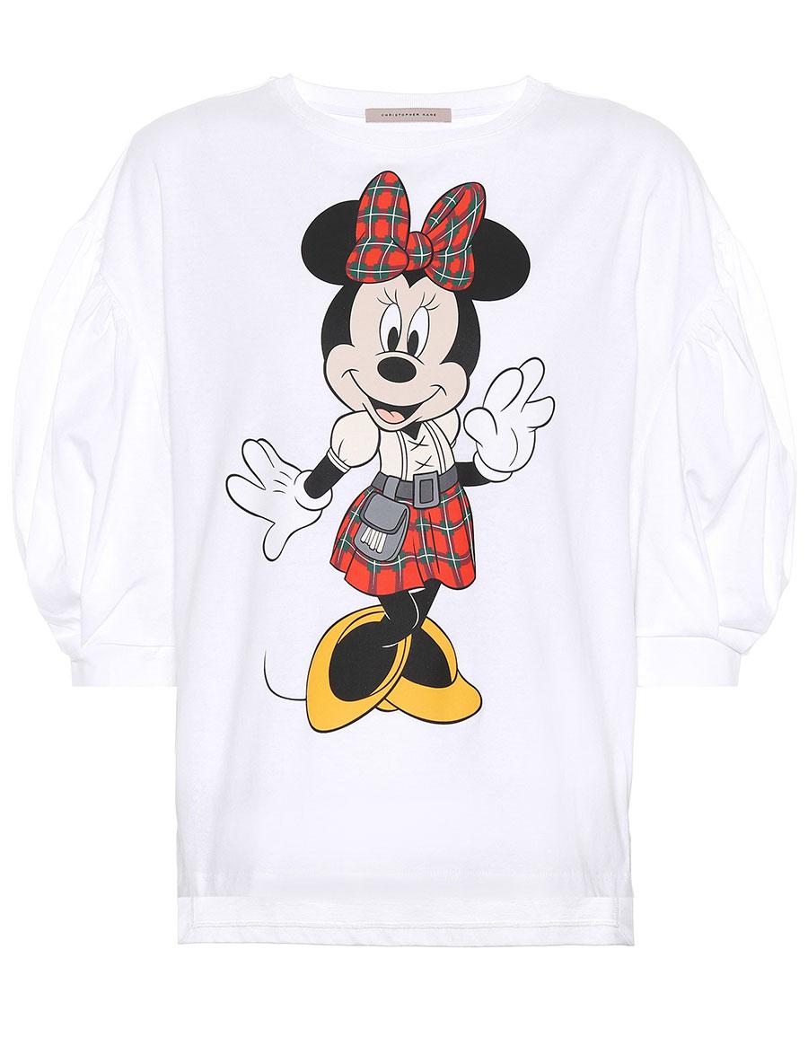 CHRISTOPHER KANE Blouson sleeve Minnie Mouse T shirt