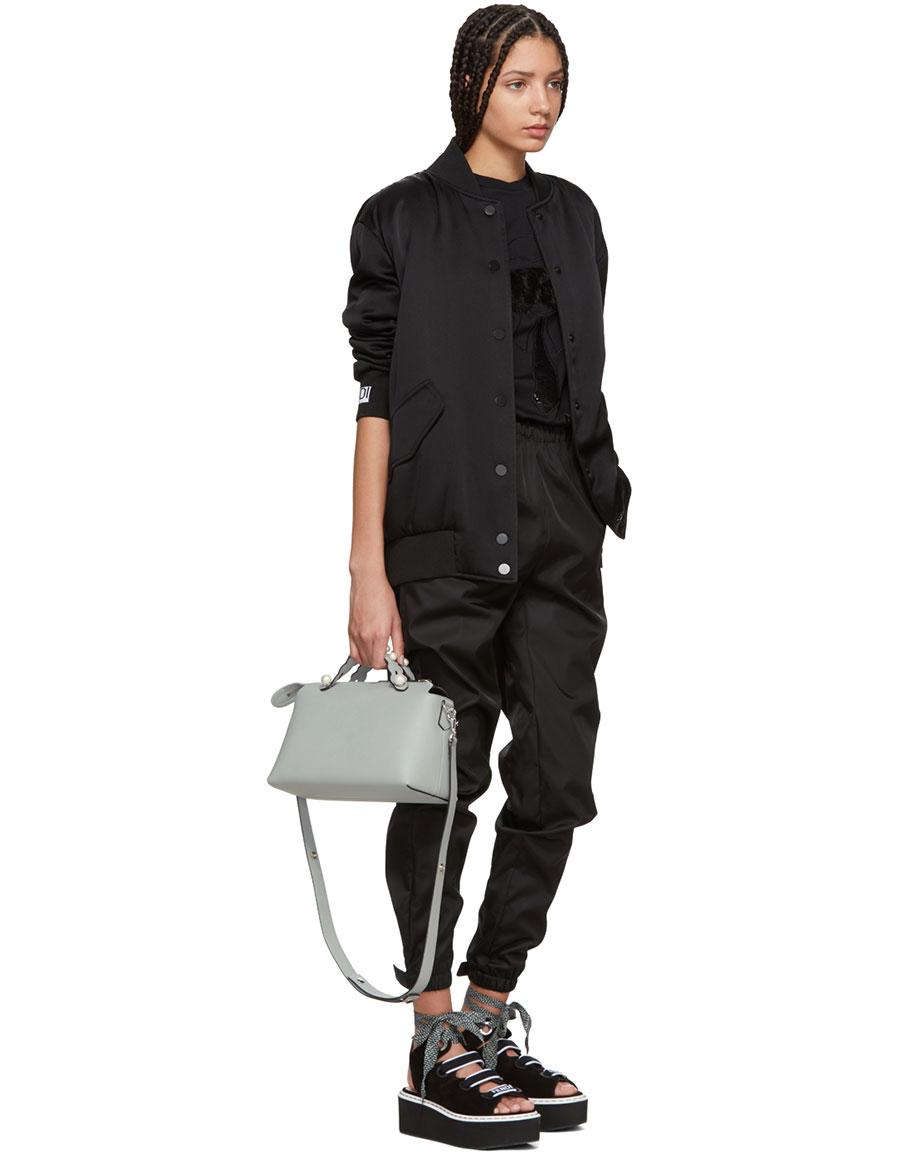 FENDI Black Fur Karlito T Shirt